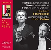 Beethoven; Strauss; Bartok: Symphony No. 8; Vier letzte Lieder; Konzert fur Orchester (Salzburg Festival) by Schwarzkopf (2013-11-19)