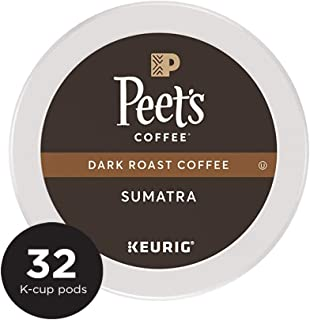 Peet's Coffee Single Origin Sumatra, Dark Roast, 32 Count Single Serve K-Cup Coffee Pods for Keurig Coffee Maker