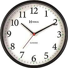 Relógio de Parede Silencioso Redondo Preto Herweg 6126S-34