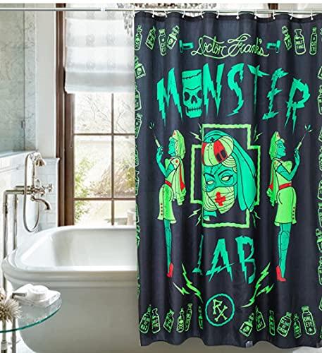 Doctor Franks Monster Terror Nurse 10 Copper Eyes Fabric Waterproof Bathroom Shower Curtain 180cm*180cm Halloween Decoration