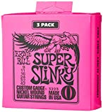 Ernie Ball Super Slinky 3-Pack Electric Guitar Strings (P03223). Super (9-42)