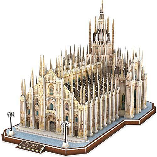 GZYM 3D Puzzle Italia Duomo di Milano Architetture Dono scatole di Montaggio ricordo per Adulti e Bambini, 251 Pezzi