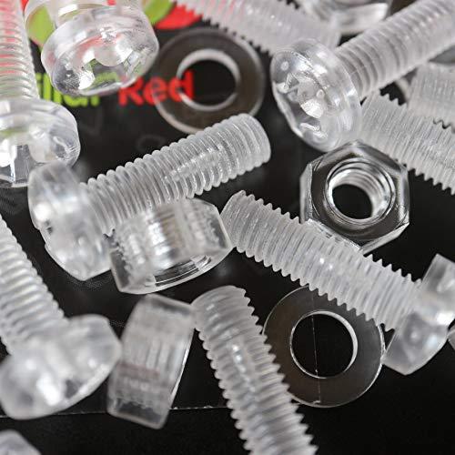 Paquete de 60 tornillos y tuercas, Arandelas, transparentes, de plástico acrílico. M6...