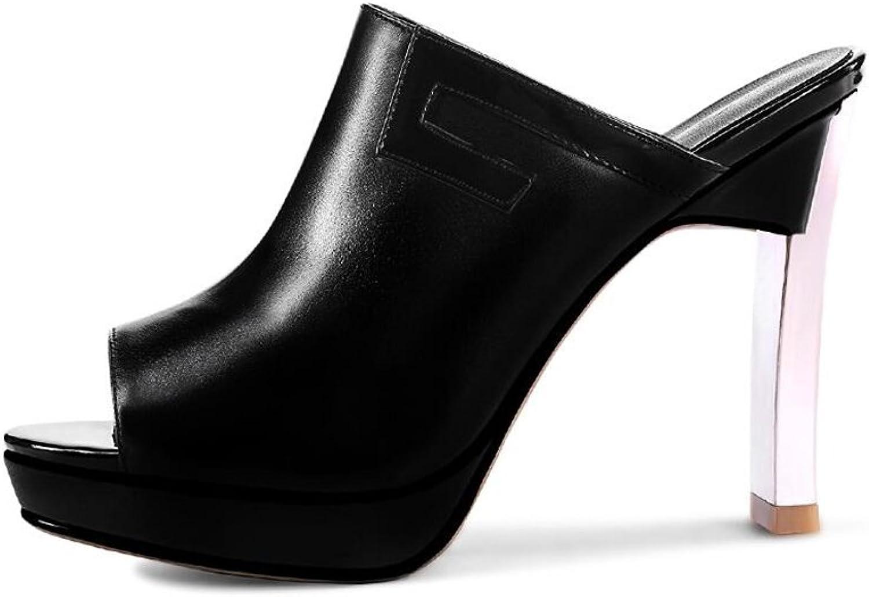 CJC High-Heeled Sandals Open Toe High Heels Thin High Heels Stiletto Heels Waterproof Platform Sandals Elegant Sexy Fashion (color   Black, Size   EU39 UK6)