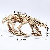 Pet Online Decoración de acuarios decoración de cráneo de dinosaurio acuario de paisajismo artesanía resina