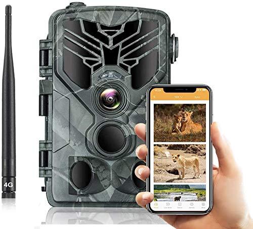 SUNTEKCAM 4G MMS/SMTP Fotocamera Caccia Fototrappola 20MP 1080P Wildlife Camera Impermeabile IP66 Trail Camera, Visione...