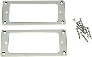 kaish 2pcs metal níquel Mini Humbucker Pickup Anillos de montaje soporte de base mini marco de Pastilla