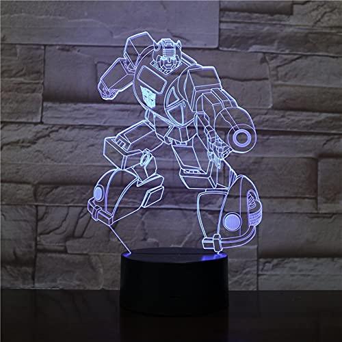 Toopower 3D Visual Night Light Colorido Gradiente Novedad USB Lámpara de Mesa Fiesta de cumpleaños niños Iluminación de Dormitorio (Color : 16color with Remote, Emitting Color : 12)