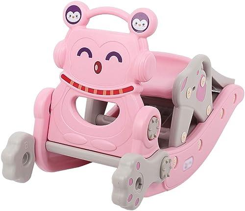 FJH Schaukelpferde Schütteln Sie das Pferd Rutsche Kind Baby Spielzeug zWeißin einem Baby Geburtstagsgeschenk Schaukelstuhl Holz Pferdewagen Multi-Funktion 96  36  53cm