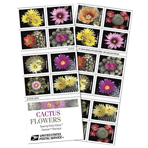 Cactus Flowers Book of 20 Forever First Class Postage Stamps Celebration Wedding Suc