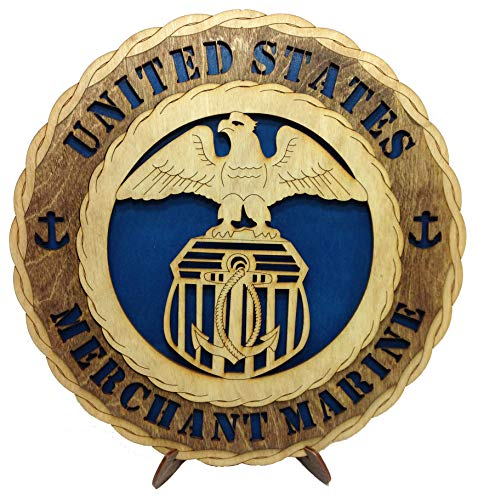 Merchant Marines Armed Forces Military Unique Decorative Custom Laser Crafted Three Dimensional Wooden Wall Plaque