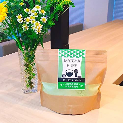 人工甘味料不使用ソイプロテイン抹茶ピュアMATCHAPURE手軽に美味しくたんぱく質を補給