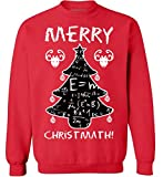 Merry Christmath Ugly Christmas Sweater - Holiday Season Sweatshirt for Science Teachers Red L