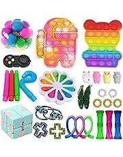 Nokiwiqis Fidget Toys Pack, Fidget Toy Sets Fidget Pack Pas Cher, Simple Dimple Fidget, Push Bubble Fidget Sensory Toy pour Enfants Adultes