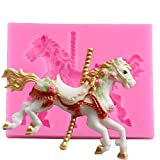Joinor 3D Carousel Horse Mould Silicone Fondant Cake...
