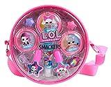L.O.L. Surprise Makeup Bag - Set de Maquillaje para Niñas - Bolsa Moderna y Colorida con Maquillaje para Niñas, Kit de Manicura y Accesorios - Regalo para Niñas