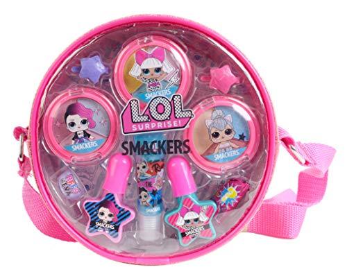 L.O.L. Surprise Makeup Bag - Trousse de Maquillage ronde pour Enfants - Tendance, Colorée avec Maquillage, Vernis (à l'eau) et Accessoires - Cadeau pour Filles