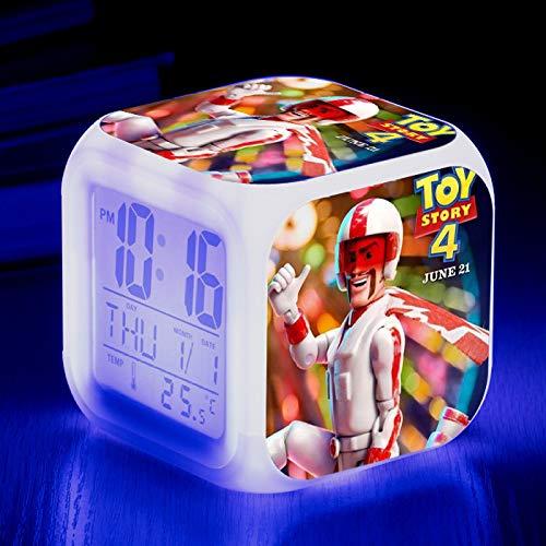 Alarm Clock-Led Colorful Color Square Clock Creative Small Alarm Clock 45#8 * 8 * 8Cm