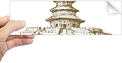 DIYthinker - Adhesivo Rectangular para Ventana de Ordenador portátil, diseño del Templo del Cielo de China