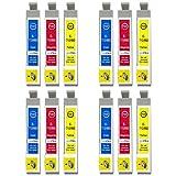 Go Inks E-715CMY Compatible Set de 3 C/M/Y Cartouches d'encre pour remplacer T0712, T0713, T0714 pour une utilisation avec les imprimantes Epson Stylus (Paquet de 12)