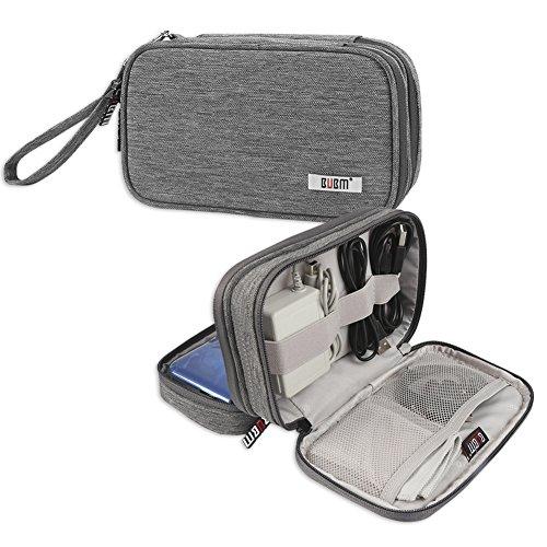BUBM Nintendo Tasche, Doppelte Tragetasche Schutzhülle für 3DS/3DS XL/Neu 2DS XL, schützend tragbare Tasche, praktischer Organizer während der Reise für 3DS/3DS XL/Neu 2DS XL und Zubehör, Grau