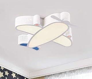 Lámpara De Techo Para Habitación Infantil,Led Lámpara De Techo Regulable,Plafón Led De Techo Con Mando A Distancia,Estilo De Avión 50-49-7Cm, 24W, Blanco, Luz Blanca