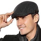 Sumolux Mens Newsboy Cap Winter Cotton Beret Hat Cabbie Flat Cap