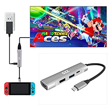USB Type C to HDMI Digital AV Multiport Hub USB-C  USB3.1  Adapter for Nintendo Switch Samsung DEX Mode MacBook Pro and More with USB3.0 USB2.0 4K HDMI and PD Charging Portable Dock Aluminium