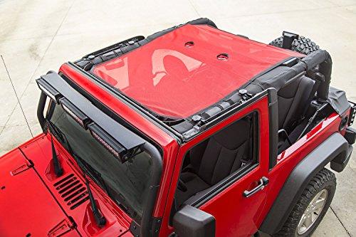 Rugged Ridge 13579.26 Eclipse Sun Shade, Red; 07-18 Jeep Wrangler JK, 2 Door
