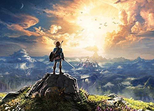 ERTYG 1000 Piezas Rompecabezas Madera niño Puzzle Papel Ocio Ocio The Legend of Zelda: Wild Boy Breathing Intelligence Adultos y niños Amigo Familiar Adecuado