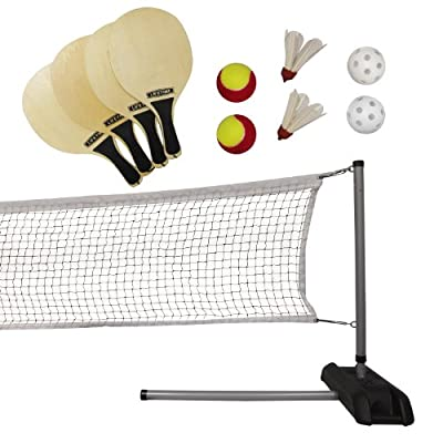Lifetime 90421 Pickleball, Badminton, & Quickstart Tennis Net Set