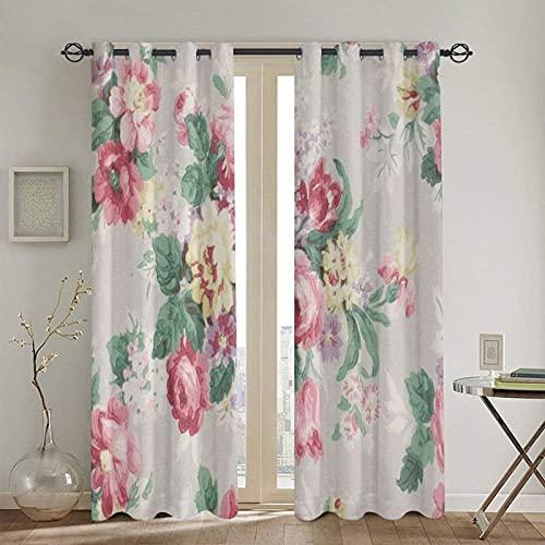 Pinterest Vintagerose Estas cortinas opacas son bonitas y son adecuadas para cortinas de aislamiento térmico de 183 x 132 cm