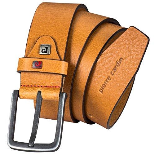 Pierre Cardin - Cinturón de piel para hombre y hombre, piel vegana, color marrón marrón 85 cm