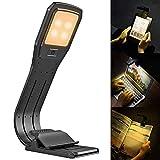 ブックライト 読書灯 クリップ 4LED 4段階調光 360°回転可能 折り畳み USB充電 自然光 目に優しい Kindle/PC/仕事/寝室/卓上/譜面台/ベッド/停電/防災用