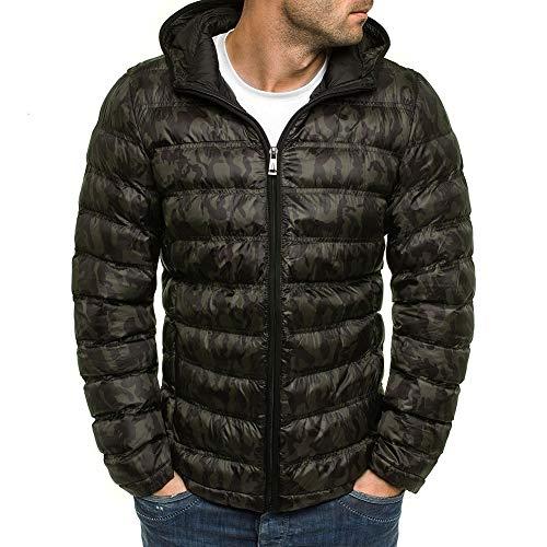 ZHNELYJ Herren Daunenjacke,Dark Camouflage Fashion Cardigan mit Kapuze Baumwolljacke Herren Baumwolljacke Winter Warme Skijacke S-3XL,Downjacket2,XXXL