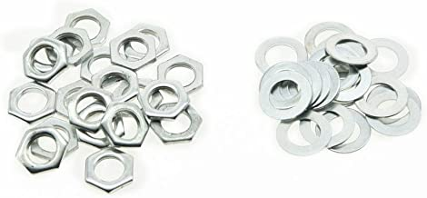 KAISH 20pcs Zinc Metric M8 Guitar Pots Nuts and Washers for 24mm Large Metric Pots
