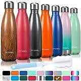 arteesol Trinkflasche, 350/500/750 ml Edelstahl Wasserflasche Doppelwandig Vakuumisoliert Water Bottle Schmaler Mund & BPA-frei für Outdoor-Sport Fitness...
