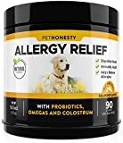 PetHonesty Allergy Relief Immunity Supplement for Dogs - Omega 3 Salmon Fish Oil, Colostrum, Digestive...