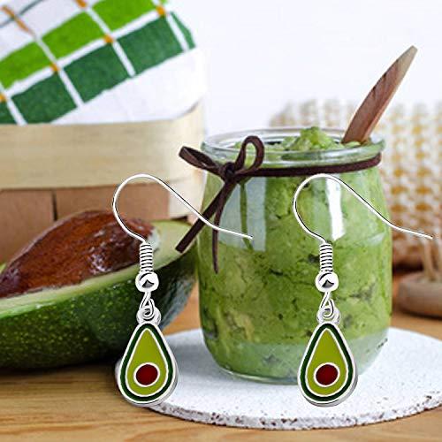 CENWA Tiny Avocado Earrings Avocado Jewelry Valentines Day Gift Guacamole Funny Earrings Green Avocado Gift for her (Avocado Earrings)