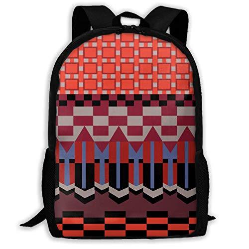 BUGKHD Leichter, viereckiger Rucksack mit violettfarbenem Streifen, wasserabweisend, für Reisen, Laptop, Tagesrucksack, 43,2 cm (17 Zoll)