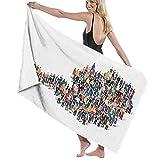 for Bathroom Multipurpose Quick Drying Shower Towel Soft and Superfine Fiber Highly Absorbent Lightweight Premium Towels Set Super Soft