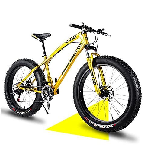 SHANJ Mountain Bike da Uomo e da Donna Fat Tire,Bicicletta MTB da Spiaggia a Sospensione Completa per Adulti,20/24/26 Pollici,21-30 velocità,Freni a Disco