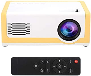Dpofirs Mini Video Projector, Hi-Fi Portable Audio Player Projector Built-in Speakers, 15 ° Vertical Keystone Correction H...
