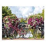 Cuadro de Bicicleta provenzal Lila de Lienzo para decoración de 100 x 80 cm France - LOLAhome
