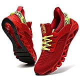 TSIODFO Slip on Sneakers for Women Casual Sport Running Shoes Athletic Train Tennis Walking Shoes Ladies Gym Workout Jogging Fashion Sneaker red Green Size 9