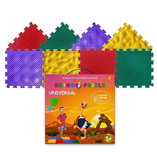 Orthopädische Puzzlematte – Orthopädische Spielmatte für Kinder mit Quadratischen und Verriegelten Puzzleteilen – Plattfuß Übungsmatte - Sichere medizinische Bauteile für Babys und Kinder (Universal)