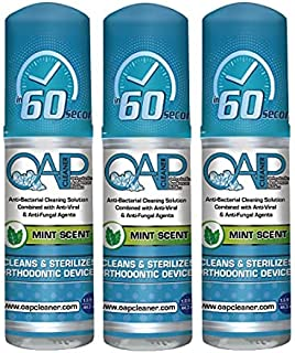 Orthodontic Cleaner by OAP Cleaner   Retainer Cleaner, Denture Cleaner, and Mouth Guard Cleaner   60 Second Foam Cleanser...