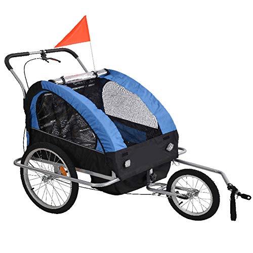 GT-LYD 2in1 Kinderanhänger Kinderfahrradanhänger,Klappbarer Kinderwagen, Fahrradkinderanhänger, mit Sicherheitsgurt