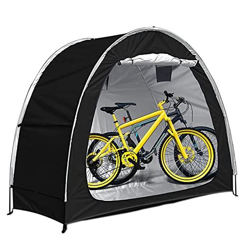 EEUK Tenda per Bicicletta Esterno, Tenda da Bici, Grande Capannone, Copertura per Biciclette con Design A Finestra, Impermeabile, Deposito per Esterni Antipolvere