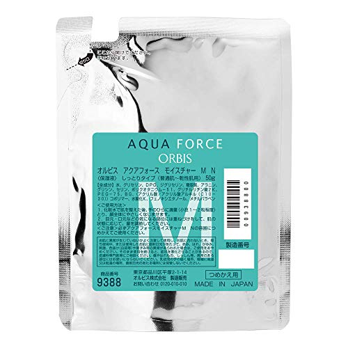 Orbis Aqua Force Series 2017 Skin Misture (Moisturizing Liquid) Refill 50g - Moist (Green Tea Set)